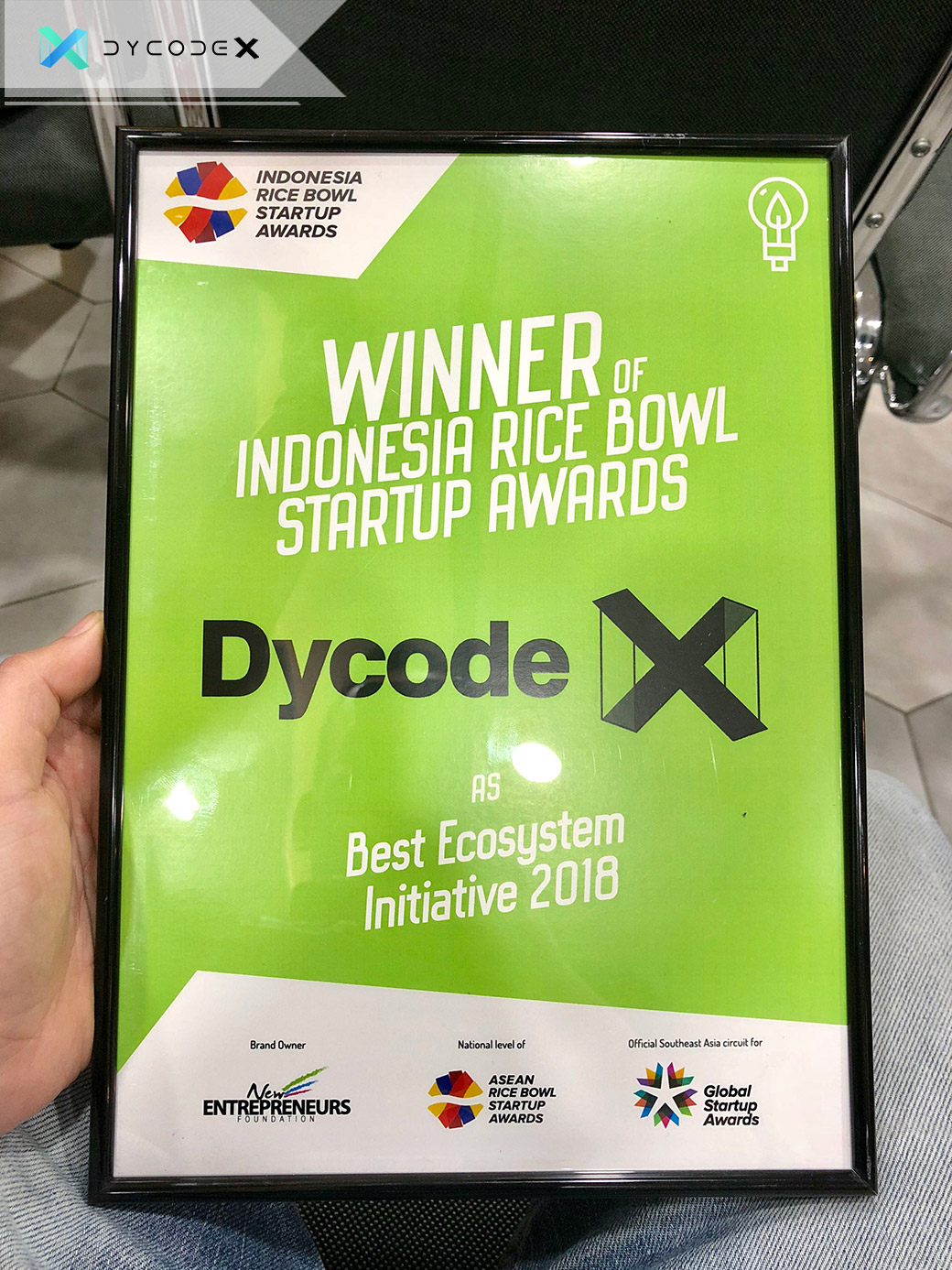 DycodeX Wins Rice Bowl Awards 2018 as Best Ecosystem Initiative in Indonesia